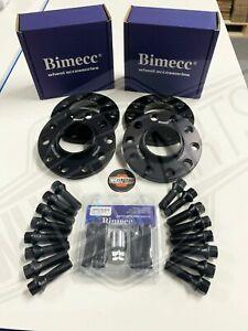 BMW Alloy Wheel Spacers 2x 10mm 2x 12mm Black Bolts Locks M5 F10 F80 M3 M4 M2