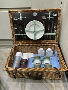 """Vintage , Retro Picnic ,camping Basket , Wicker ,"""" The Brexton  Collection """""""