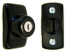 IDEAL Security Keyed Deadbolt Home Storm Patio Screen Black Door Lock New