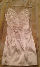 NEW! Gorgeous GUESS Ivory Silky Satin Stretch Rhinestone Dress Champagne Size 1