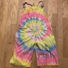 Vintage Tie Dye Overalls 80s 90s Hippy Fashion Grateful Dead Trippy Punk Surf