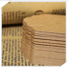 100 Pcs Hang Tags Wedding Party Decor Parcel Luggage Rectangle Kraft Paper Tags