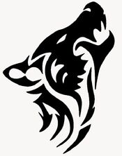 JDM OEM Aufkleber Wolf Silhouette Aufkleber 10 x 15cm Decal Sticker 2 St.