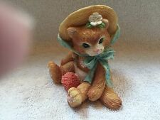 "Cat Figurine Priscilla Hillman 1992 ""I Am Fur You"""