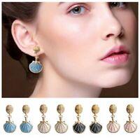 1 Pair Graceful Ocean Beach Sea Shell Conch Shape Earrings Women Jewelry Gfit