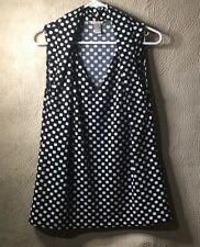 BANANA REPUBLIC BLACK WHITE POLKA DOT BLOUSE