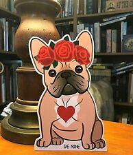 "Girl Fawn French Bulldog Valentine's 7"" Decor"