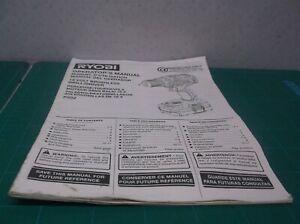 Ryobi One Plus 18V Brushless Hammer Drill - P252 (OPERATOR'S Manual Only)