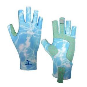 Savior Fishing Gloves Fingerless Waterproof Non-Slip Glove Camping Mitten Size L