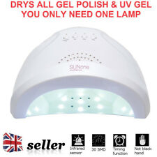 UK SunOne 48W LED UV Nail Dryer White Light Nail Lamp 5S,30S,60S Sun One