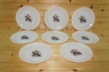 Anchor Hocking GAME BIRDS (8) Bread & Butter Plates   Canada Goose   USA VTG