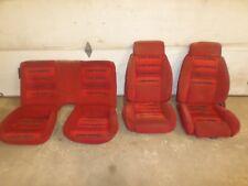 85 Camaro IROC RED RECARE SEAT SET 82 92 02 Trans Am TA LS1 T56 LT1 TPI T5 cloth