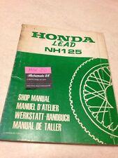Honda Lead NH125 NH 125 revue technique moto manuel atelier workshop service