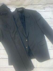 Paul Dione 2 button suit jacket & pants dark gray see description 4 measurements