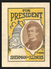 1916 L.V. Sherman for President - very scarce