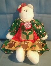 Hand Made Christmas Bear Doll