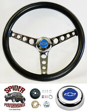 "1969-1981 Camaro steering wheel BLUE BOWTIE 14 1/2"" CLASSIC steering wheel"