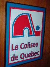 Quebec Nordiques Hockey Gameroom Bar Throwback Framed Print Man Cave Sign