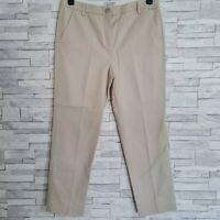 M&S Per Una Chino Trousers Size 12-UK Stone Beige 32W 26L Straight Leg Cotton