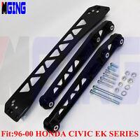 Billet Rear FOR 96-00 Honda Civic Lower Control Arm Subframe Brace EK BWR Black