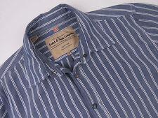 kd105 Scotch & SODA camicia maglietta originale Premium a righe Poppers Blu