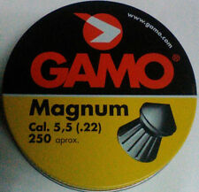 2500 PLOMILLOS ,BALINES TIPO THOR LEAD TIP PELLETS GAMO MAGNUM .22 CAL 5.5 15.42