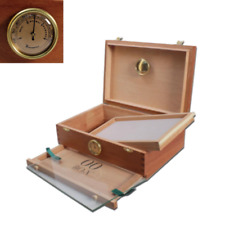 More details for rolling box 00 humidor with hydrometer - store & preserve your smoking materials