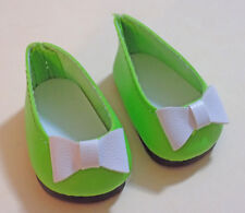 Lime Green Color Jane Flats Shoes Fit American Girl Wellie Wishers Dolls & H4H