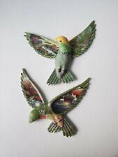 Thomas Kinkade Beauty In Flight Hummingbirds Wall Hanging. Lot of 2.