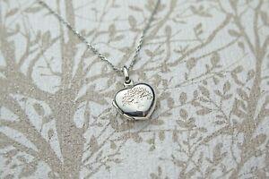 Solid 925 Sterling Silver Celtic Tree of Life Heart Keepsake Photo Locket