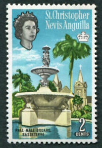 ST. CHRISTOPHER NEVIS ANGUILLA 1963-9 2c SG131 MH FG Pall Mall Basseterre #A02
