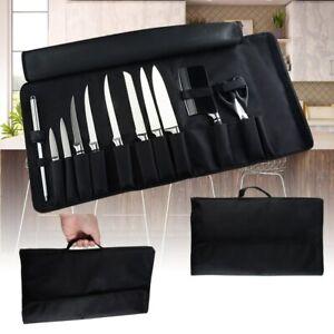 12 Pocket Knife Storage Bag Kitchen Tool Cooking Chef Knife Canvas Bag Roll Case