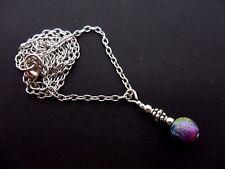 """Un pequeño lindo Arco Iris Perla Collar. 20"""" Cadena. Nueva."""