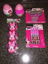 Disney Jr Minnie Mouse Lot 5 Easter Basket Filler Treat Containers/Eggs+ New
