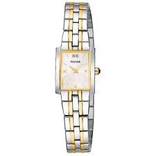 Pulsar by Seiko Two Tone White Dial Women's Dress Watch PEG898