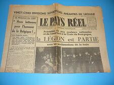 LEGION WALLONIE - RARE N° SPECIAL DEPART DE LA LEGION AVEC PHOTOS AOUT 1941