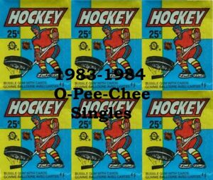 1983-84 O-Pee-Chee Complete your Set  (Cards 265 - 396)