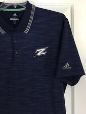 Akron Zips Men's NCAA Golf Polo Shirt Heathered Navy Short Sleeve Size XL EUC