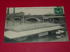 CPA CARTE POSTALE 1910 INONDATIONS PARIS 75 JANVIER PONT NATIONAL CRUE SEINE
