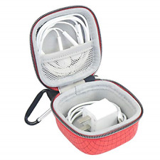 IKSNAIL Earphone Earbuds Case w/ Carabiners Small Mini Storage Pouch for AirPods