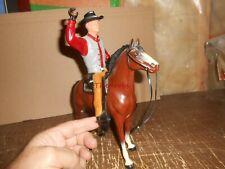 Larger Vintage Hartland Seth Adams Figure With Horse  Gun & Rifle