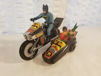 Tin Toy 1970 battery operated BATMAN AND ROBIN ON SIDECAR incomplete, see pics!