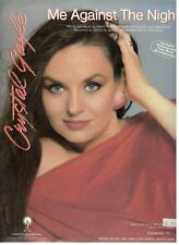 """CRYSTAL GAYLE """"ME AGAINST THE NIGHT"""" SHEET MUSIC-PIANO/VOCAL/GUITAR/CHORDS-NEW!!"""