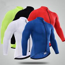 New Thermal Fleece team winter cycling jerseys mens Long sleeve cycling jersey