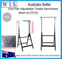 2 x Telescopic Saw Horse Metal Folding Trestle Work Bench Stand Adjustable Heigh