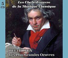 5 CD chefs-d'oeuvre de la musique classique BEETHOVEN Les plus grandes oeuvres