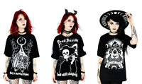 Restyle Gothic Black Alternative Oversized T-Shirts (Choose Style)