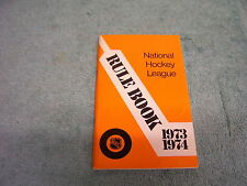 1973-1974 NATIONAL HOCKEY LEAGUE OFFICIAL RULE BOOK NHL
