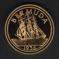 Bermuda. c1980s  Edward VIII (1936) - Fantasy Crown.. bronze, gilt - Prooflike