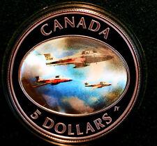2006 CANADA $5 Snowbirds Hologram 99.99% Silver complete set - still sealed
